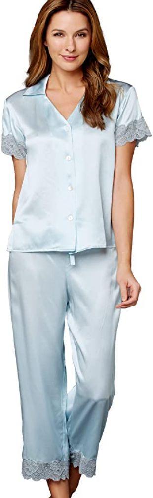 Julianna Rae Tresor Delice Women's 100% Silk Pajamas