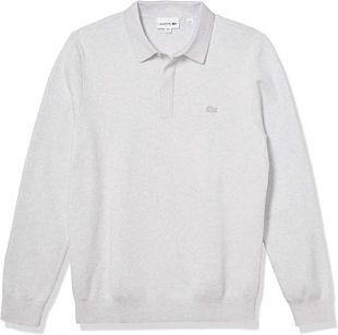 Lacoste Men's Long Sleeve Regular Fit Classic Stitch Sweater