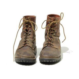Taille: 9 / vintage Chippewa Bottes de travail en cuir brun pour hommes (M-B 170)