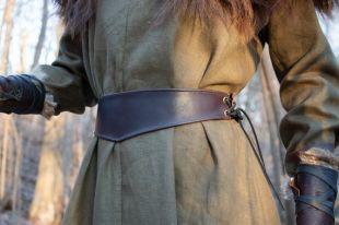 Ceinture médiévale pour femmes - Ceinture en cuir, Brown - /F/ (AB)