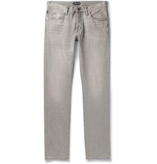 Tom Ford Slim-Fit Grey Denim Jeans