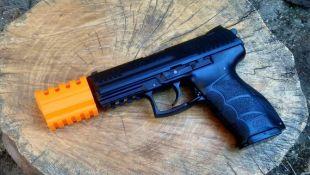 Airsoft3D J.W. Airsoft Compensator V4 (PE) Inspiré par John Wick Films pour Airsoft Pistol Gun Gun AEG GBB - Hitman Assassin Weapon