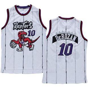 QQA Classique Maillots de Basket NBA Toronto Raptors 10# Demar DeRozan Gilet de Sport en Maille Tissu Respirant Cool Swingman Jerseys,S