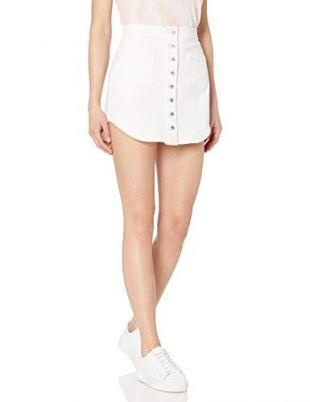 BB Dakota Women's Take Me Out Button Front Denim Skirt