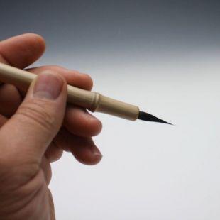 Écureuil russe, brosse à peinture fine à pointes, pinceau en bambou fait à la main E016
