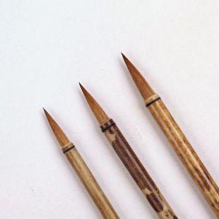Haute qualité 3 Brush Set Kolinsky cheveu poignée de bambou chinois fournit art calligraphie aquarelle pinceau de peinture ensemble