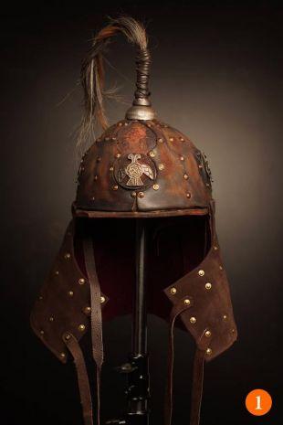 Casque médiéval en cuir de bataille; fantastique guerrier ren faire hommes casque; chevalier sca et armure de tête de larp