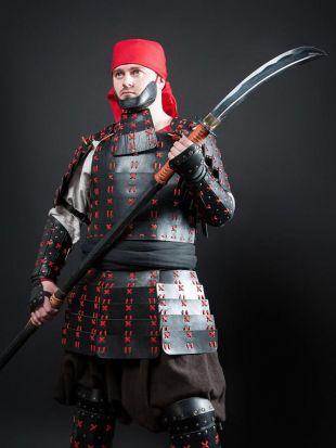 Armure de guerrier en cuir samouraï japonais O-Yoroy, armure historique pour la protection du corps, armure de samouraï de guerrier faite par la maîtrise d'acier