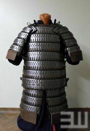 18GA Steel Medieval Long Lamellar Scale Armor Knight Warrior Cuirass