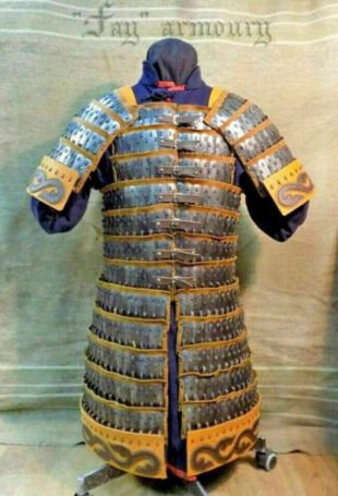 18GA Acier Début Médiéval Lamellar Armor Cuirass Poitrine médiévale poitrine