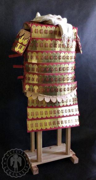 Armure médiévale byzantine de klibanion de lamellar (version longue)