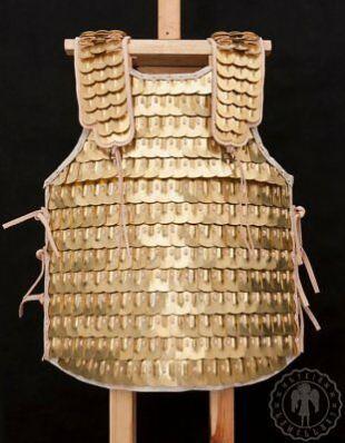 Medieval Roman brass armor lamellar/scale armor Breastplate