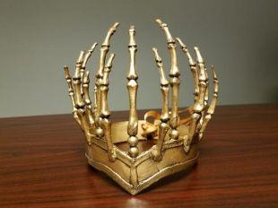 Queen of Hell Crown inspiré par CAoS, Gold Bone Headpeice