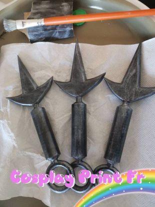 Style Ninja kunai x3 Knife avec/sans initial de ton nom sur la lame x3