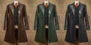 Long cuir frock manteau Duster steampunk style victorien Fantasy