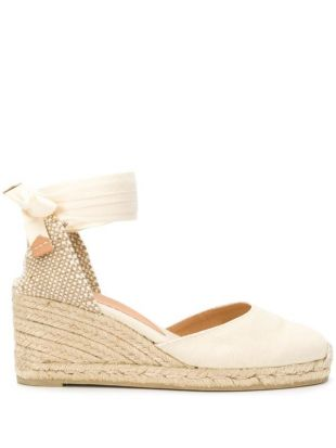 Carina lace-up wedge espadrilles