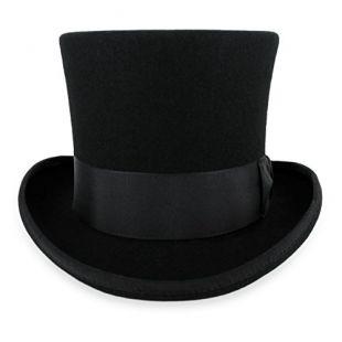 Belfry John Bull Theater-Quality Men's 100% Wool Felt Top Hat in Black XXLarge …
