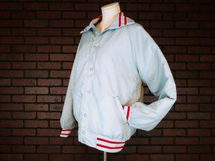 vintage Nammets Mens Grey et Red Bomber Varsity Sport Jacket Taille Grande