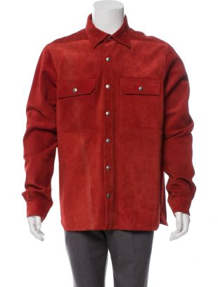 Red Suede Overshirt