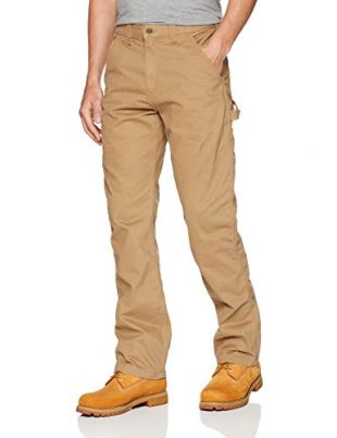 Carhartt Men's Relaxed Fit Washed Twill Dungaree Pant, Dark Khaki, 36W X 32L