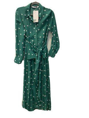 BNWT & Other Stories Green Polka Dot Maxi Dress Size 34 8 10 12 £89