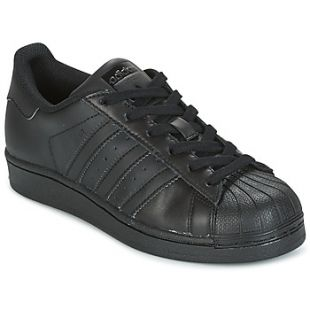 Sneakers Adidas Superstar Black Metal toe in the clip The