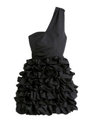 Z H&M noir une épaule Tulipe Bubble volants Mini Robe De Soirée UK 10 US 6 EU 38    eBay