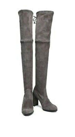 Stuart Weitzman Suede Highland Stretch Over The Knee Boot Taupe    eBay