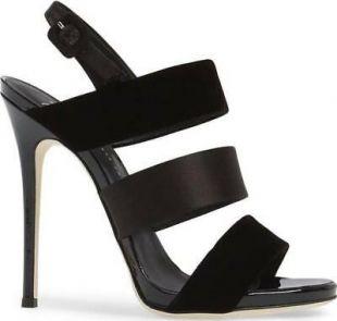 Giuseppe Zanotti lanières bride arrière sandales velours & satin noir 36.5 authnib$ 695  | eBay