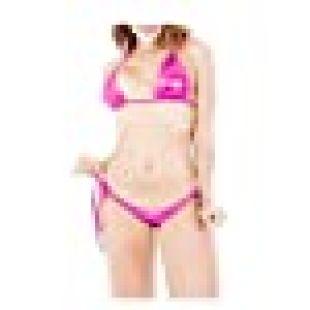 IWEMEK Women's Shiny Metallic Tie Side Bottom Triangle Bikini Swimsuits 2 Piece Push Up Swim Bathing Suit