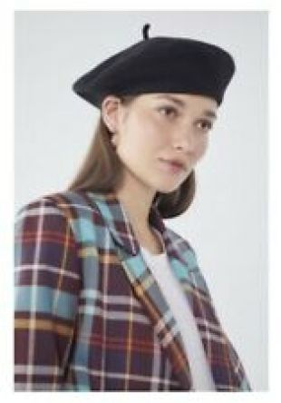 Urban Outfitters Black Beret