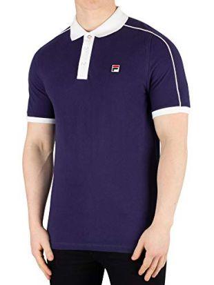 Fila Vintage Klein Polo Shirt Navy/White L