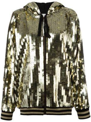 Faith Connexion Sequins Embellished Bomber Jacket