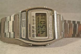 Seiko Digital Alarm Chronograph Watch A158-5050 RARE