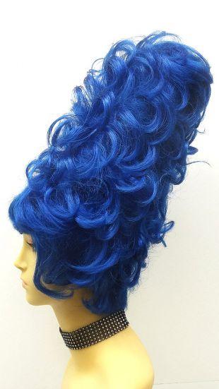 Haut Costume bleu bouclés perruque. Perruque de marge Simpson de Style. Perruque de Clown amusant de fantaisie. [49 262 Simpson bleu]
