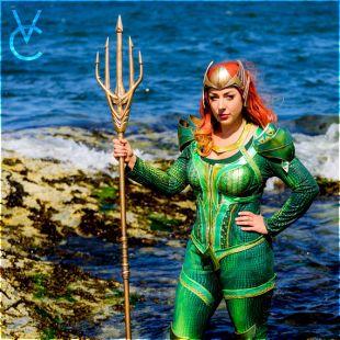 Mera Justice League Cosplay costume seul OOAK