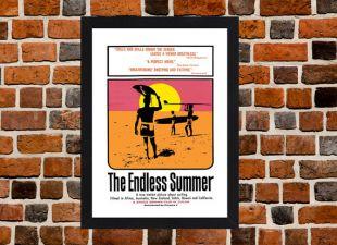 Encadré le Endless Summer surf film / Film format A3 affiche monté en noir ou blanc cadre