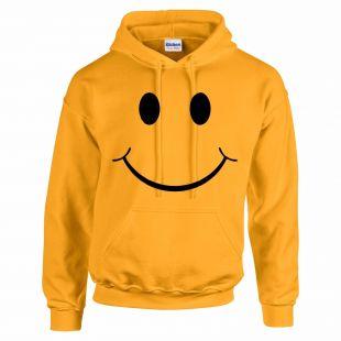 Smiley Face Funny Unisex Hoody Hooded Top Tumblr Novelty Xmas Gift Secret Santa | eBay