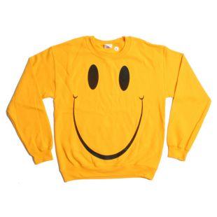 Sourire Sweatshirt   grand Smiley Face ont un beau jour des années 1990 pull   vacances pull pull Oversize Sweat Shirt Top