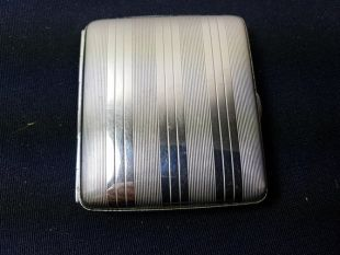 Vintage Cigarette Case Art Deco Silver Plated 1920's Original