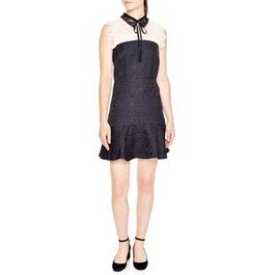 Sandro Flavia Brocade Mini Dress