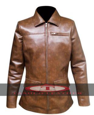Hunger Games Jennifer Lawrence Katniss Everdeen Leather Jacket For Womens | eBay