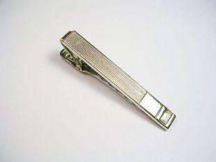 Vintage cravate Clip STERLING SILVER Anson Tie Bar * vêtements * cravate homme accessoire mariage événement cravate noire cadeau Mad Men attache fermoir