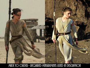 Rey Cosplay Star Wars : L'éveil de la Force. Double cuir Rey ceintures Costume Michele (pochette non inclus)