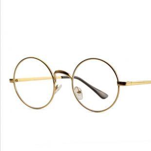 Lunettes dorées rondes de Killmonger