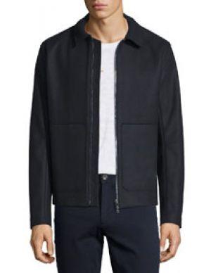 Vince Raw Edge Zip Up Utility Jacket