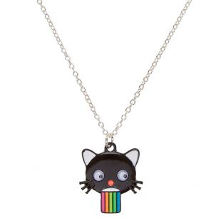 Collier chat avec langue arc en ciel