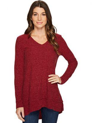 Mod o doc Poorboy Rib Sweater Double Layer Hem Long Sleeve  Sweater