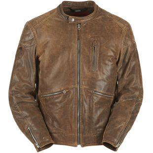 Furygan Coburn Leather Jacket   Brown