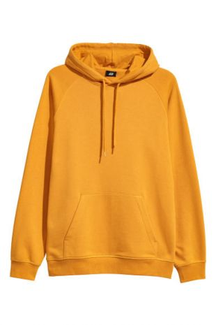 Sweat à capuche  Jaune moutarde H&M